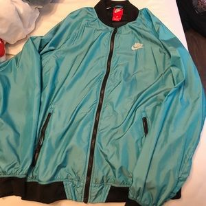 Women's Teal Nike Windbreaker